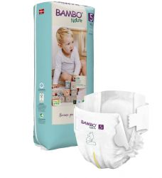 Еко пелени за еднократна употреба  Bambo Nature, Tall pack, размер 5, XL, 12-18кг., 44 броя