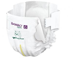 Еко пелени за еднократна употреба  Bambo Nature, Tall pack, размер 6, XXL, 16+кг., 40 броя